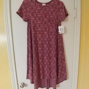 NWT LuLaRoe Hi-Low Carly Dress S 6-8
